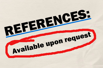 how to write a reference page reference template